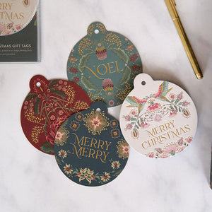 Kaleidoflora Bauble Tags 12 Pack