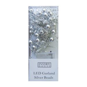 LED Garland Silver Beads