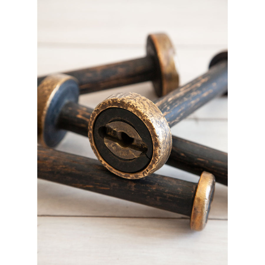 Vintage Black and Gold Spool