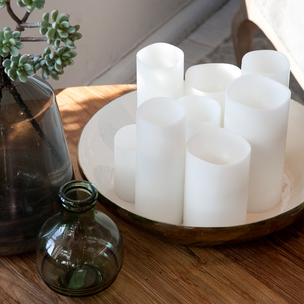 Flameless Wax Candles  White