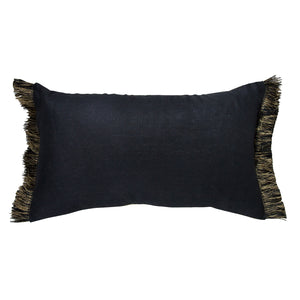 Olive Fringe silk linen Cushion