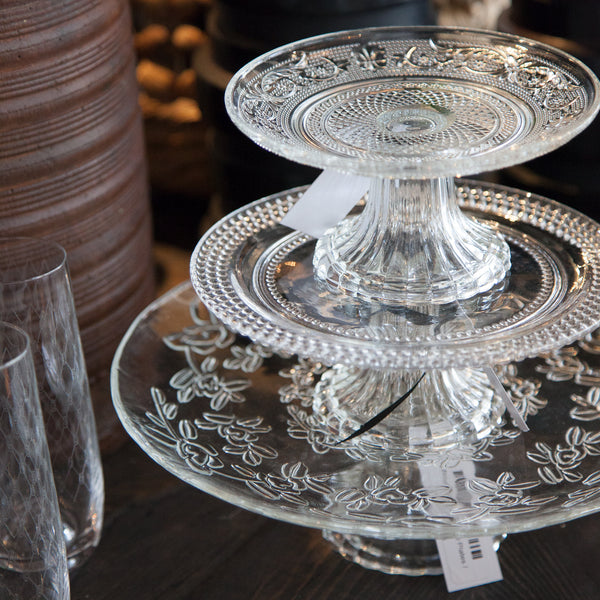 Mixed Glass Cake Plates