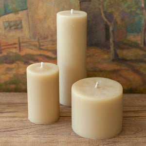 Beeswax Solid Pillar Candle 8cm