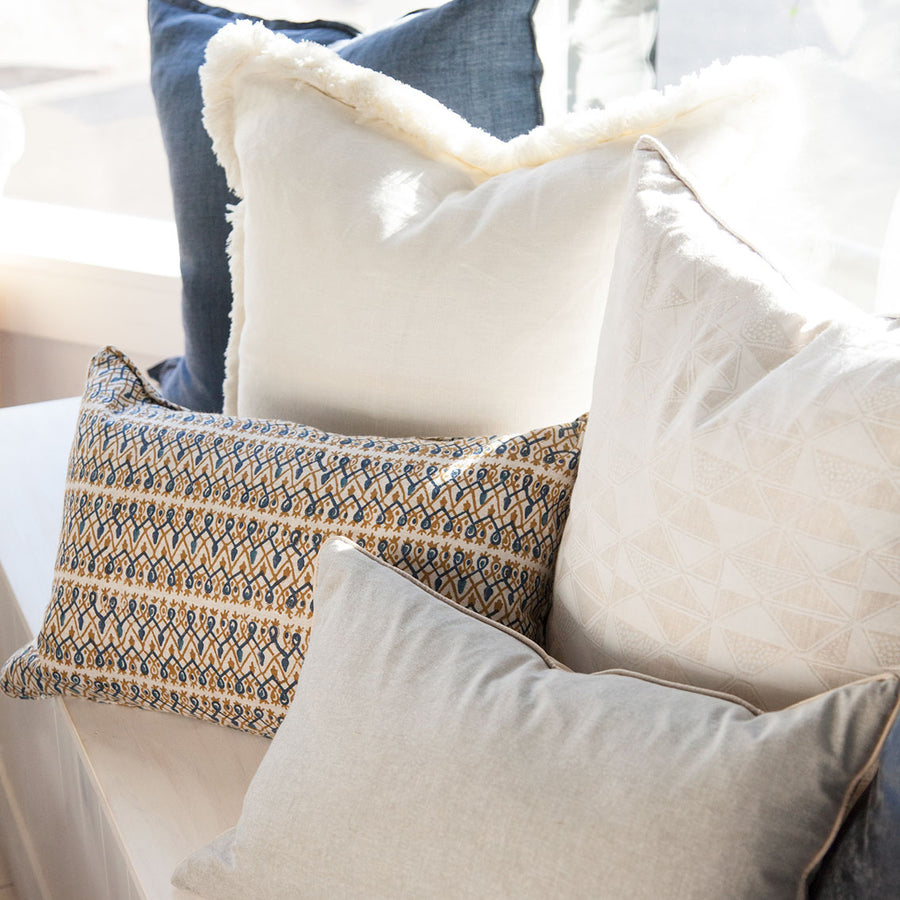 Babylon Tobacco Linen Cushion