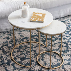 Georgia Side Table Set/2 Marble