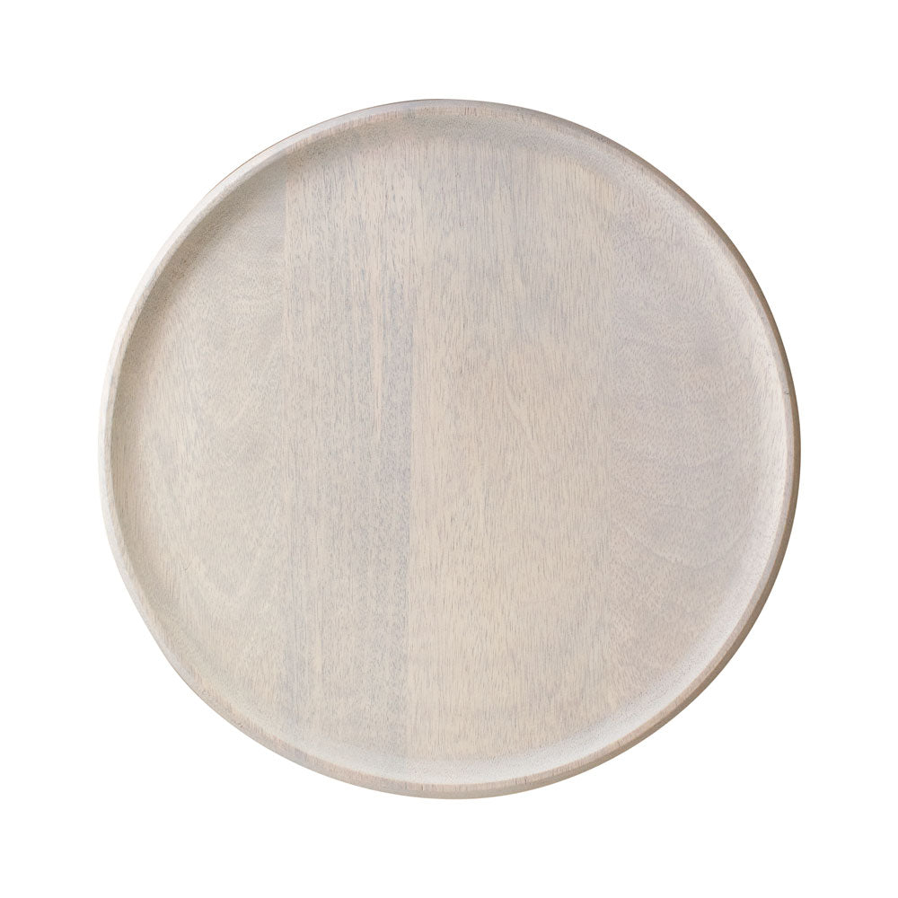 Mangowood Serving Board Round White