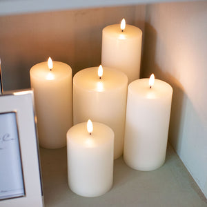 Lux Flameless Pillar Candle