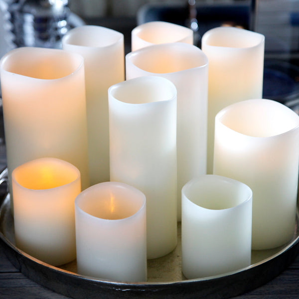 Flameless Wax Candles Ivory