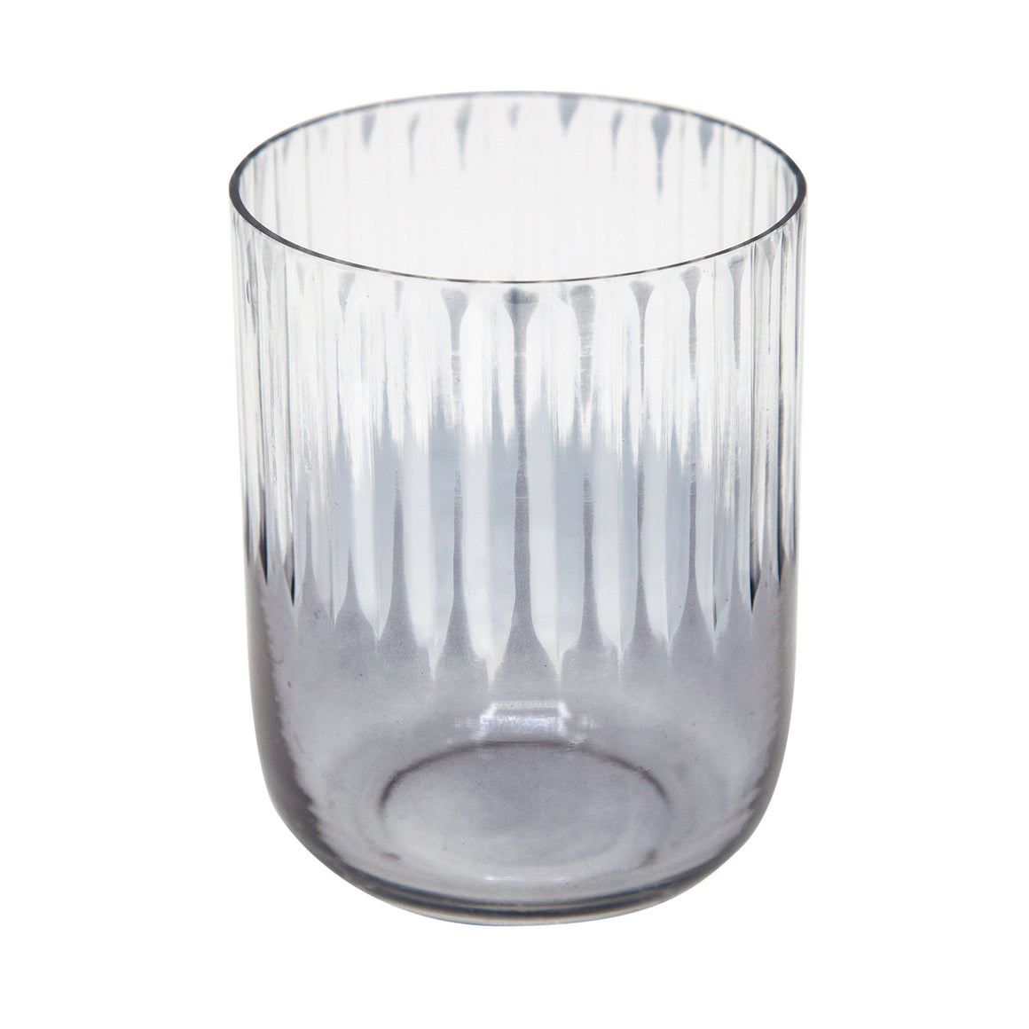 Smoke Half Stripe Glass Tealight