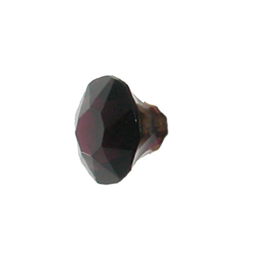 Obsidian Faceted Glass Knob