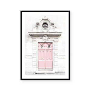 Pink Parisian Door Art Print