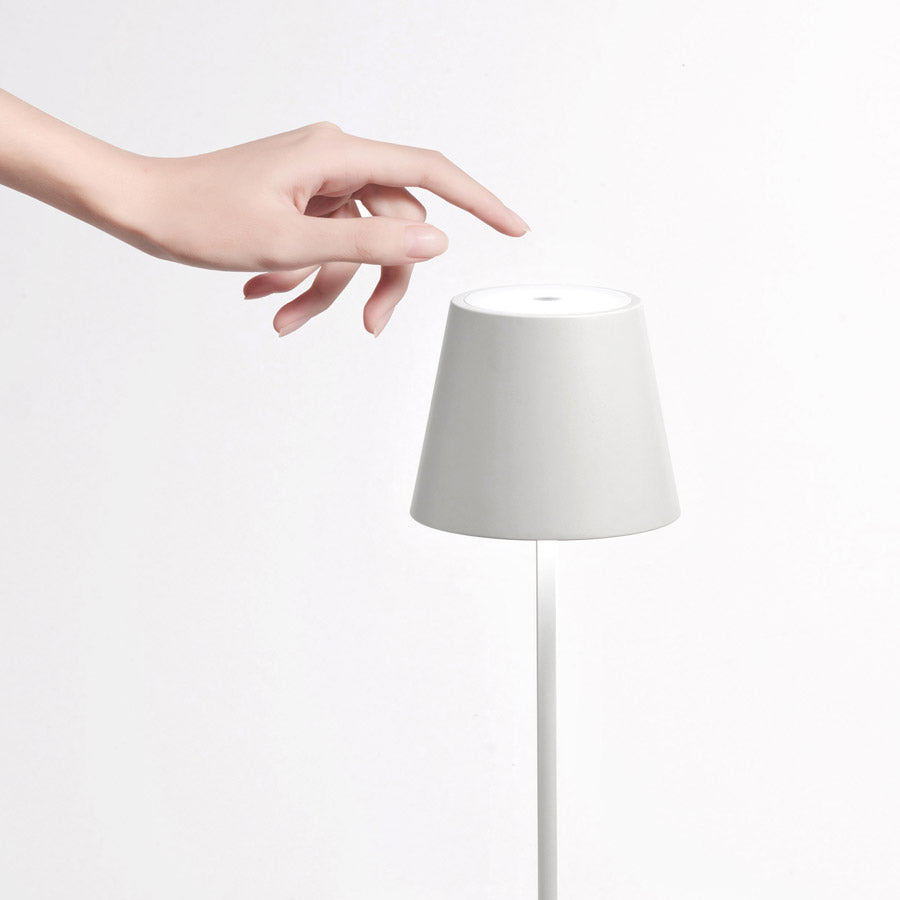 Poldina Wireless Touch Lamp Matte White