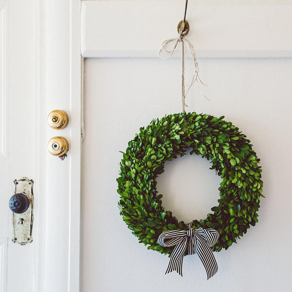 Christmas Wreath Preserved Boxwood