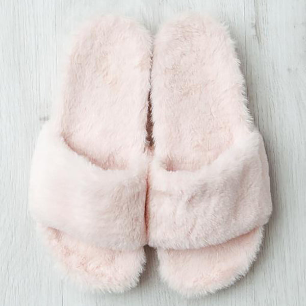 Pink Fur-lined Slipper