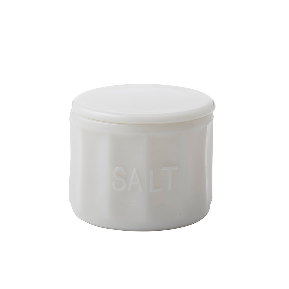 Heritage Milky Glass Salt Jar