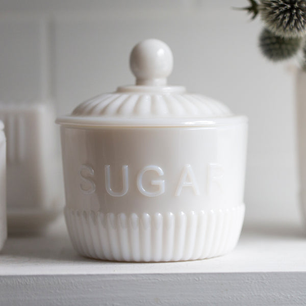 Heritage Milky Glass Sugar Bowl