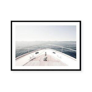 View From The Bow Framed Print