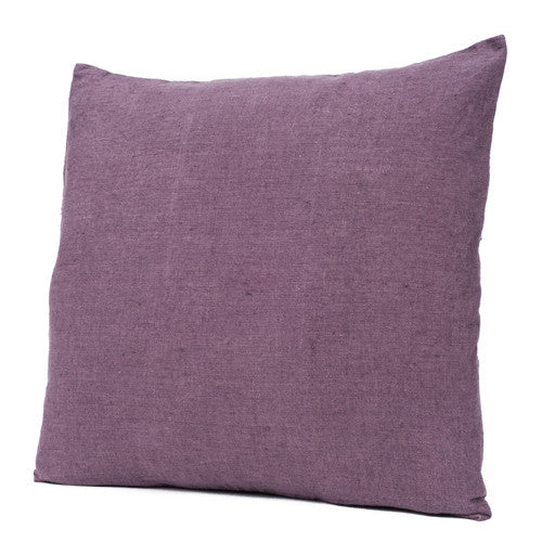 Stonewashed Linen Cushion Prune