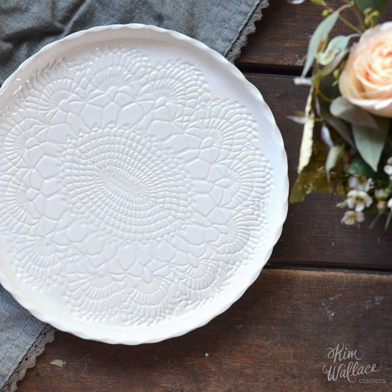 Vintage Lace Serving Platter 24cm