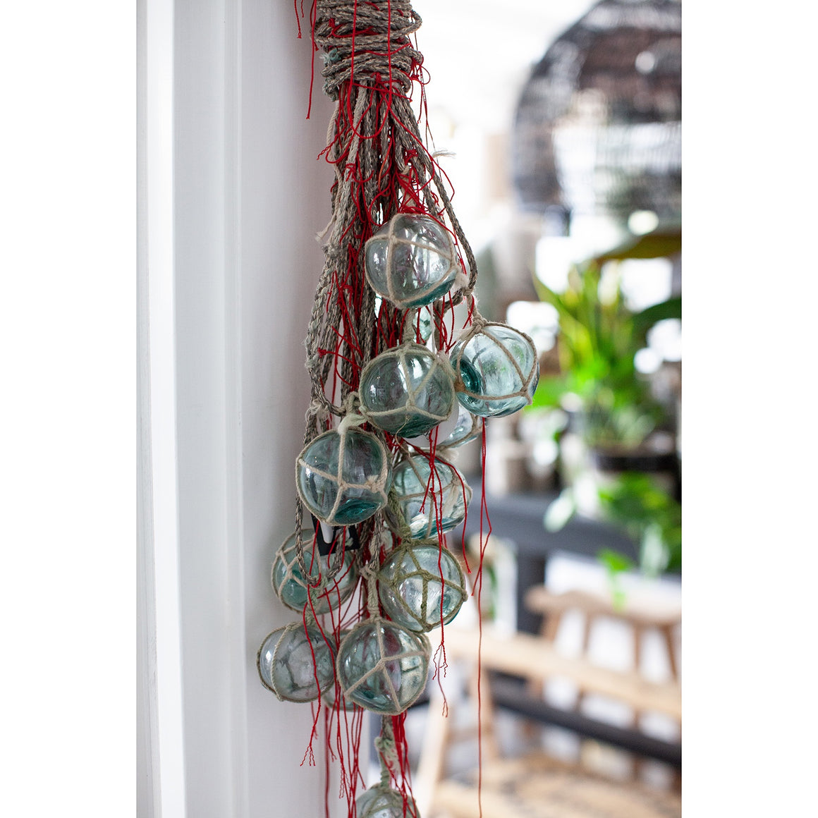 Vintage Bunch Glass Floats W Rope