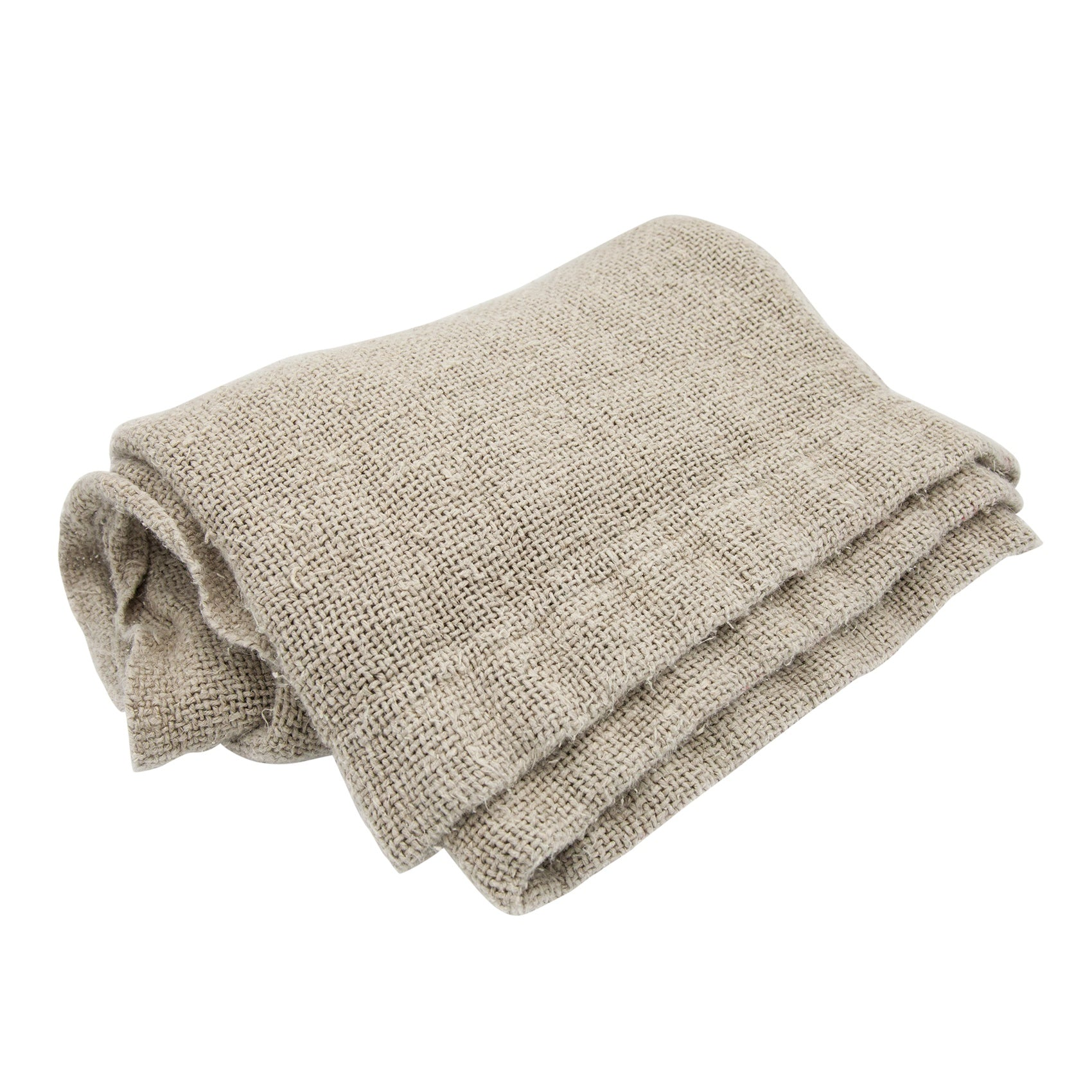 Elsie Woven Linen Throw Natural