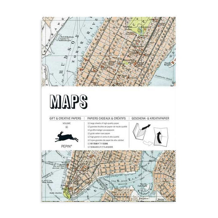 Maps Gift & Creative Paper Book