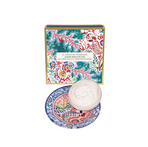 Jasmin Perle Soap and Dish Set