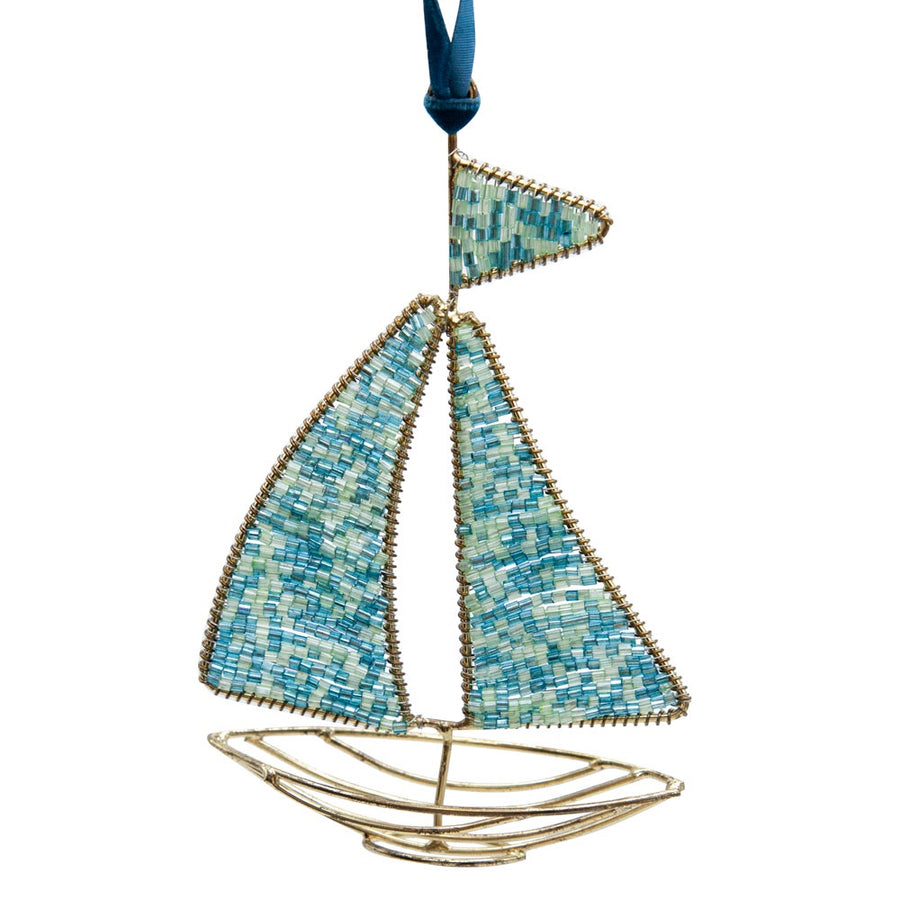 Beaded Boat Ornament
