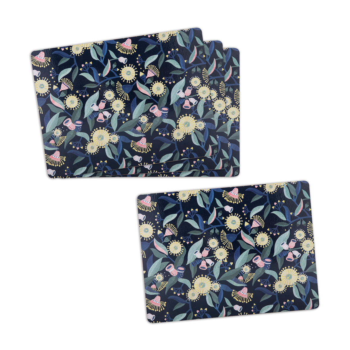 Gum Blossom Cork Back Placemat Set of 4
