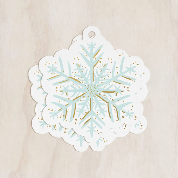 Snowflake Gift Tags Set of 8