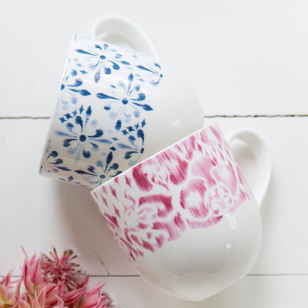 Baroque and Rose Mugs - Designed by Tara Dennis