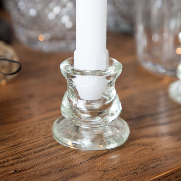 Small Glass Candlestick