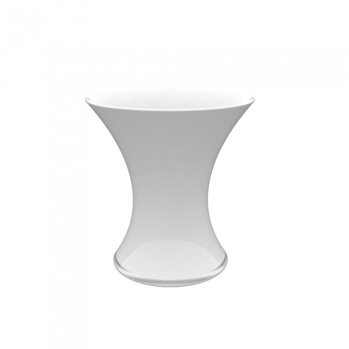 Polo White Curved Vase