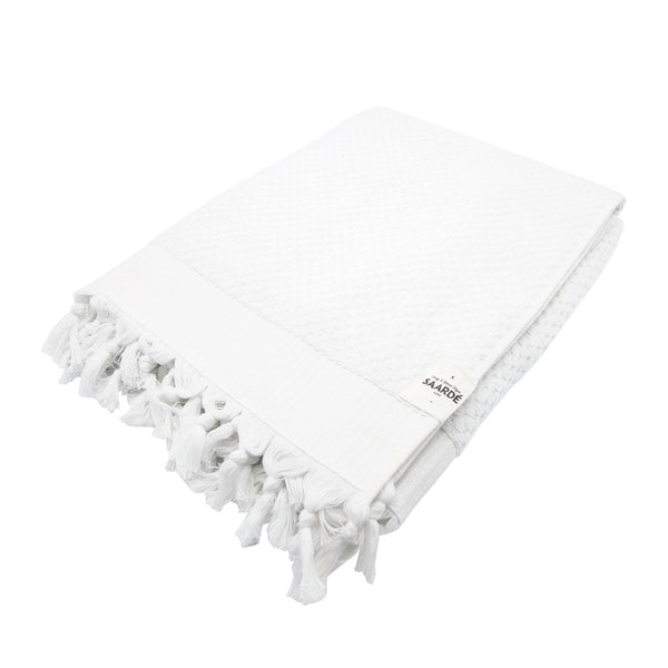 Tassel Bath Sheet White