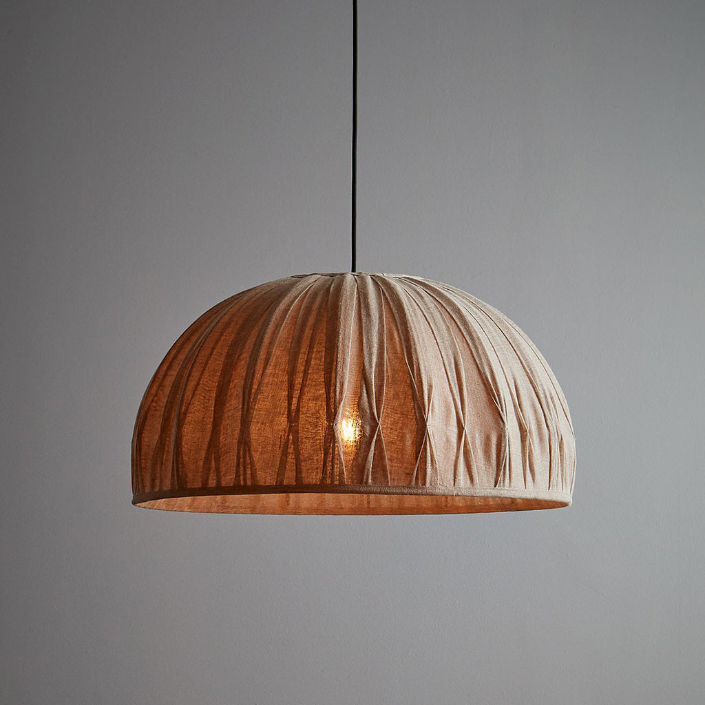 Betty Pleated Linen Dome Pendant