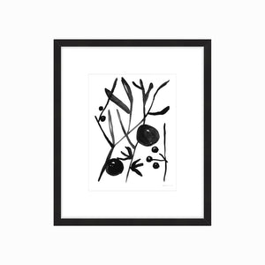 Botanic Ink I Framed Print
