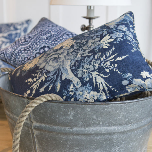 Bouquet Indigo Cushions