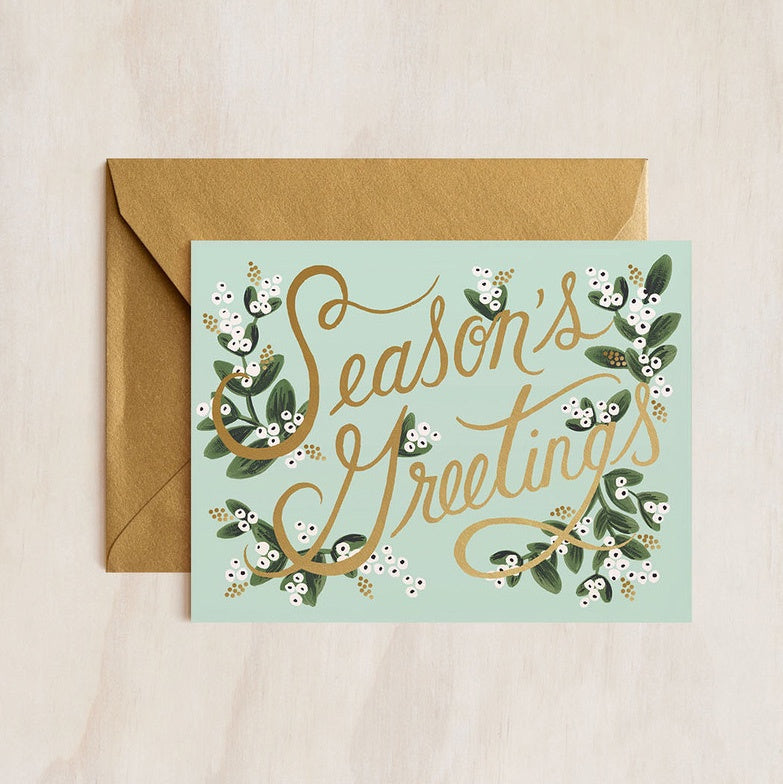 Mistletoe Seasons Greetings Card