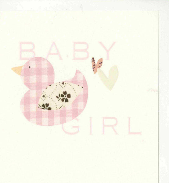 Baby Girl Pink Duck Card