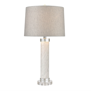Italy White Marble Table Lamp