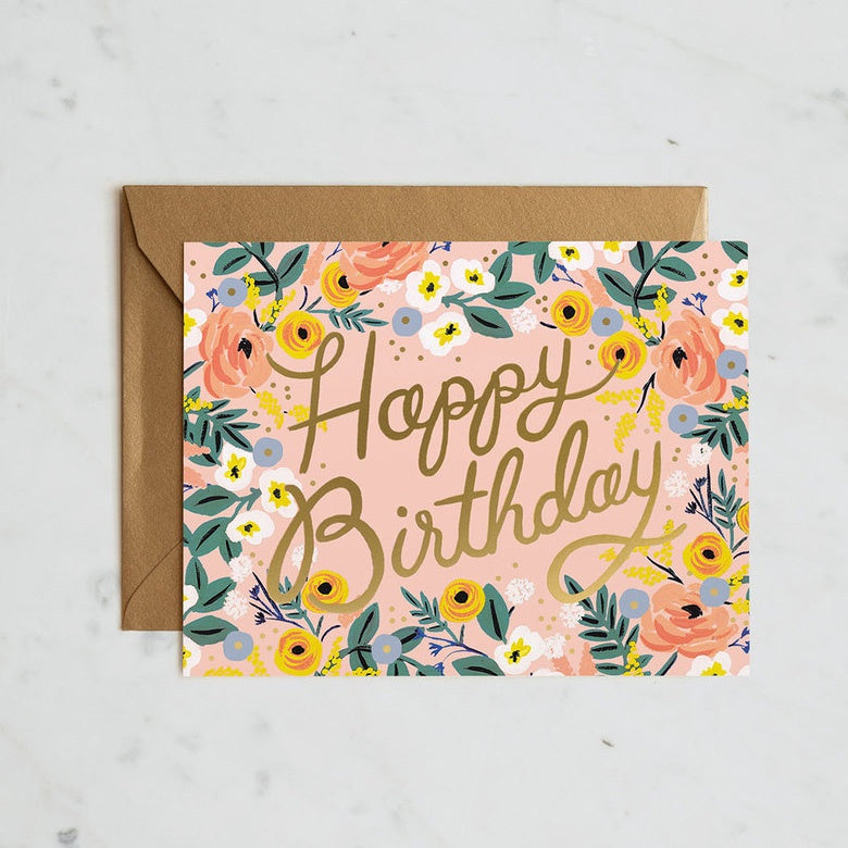 Rośe Birthday Card