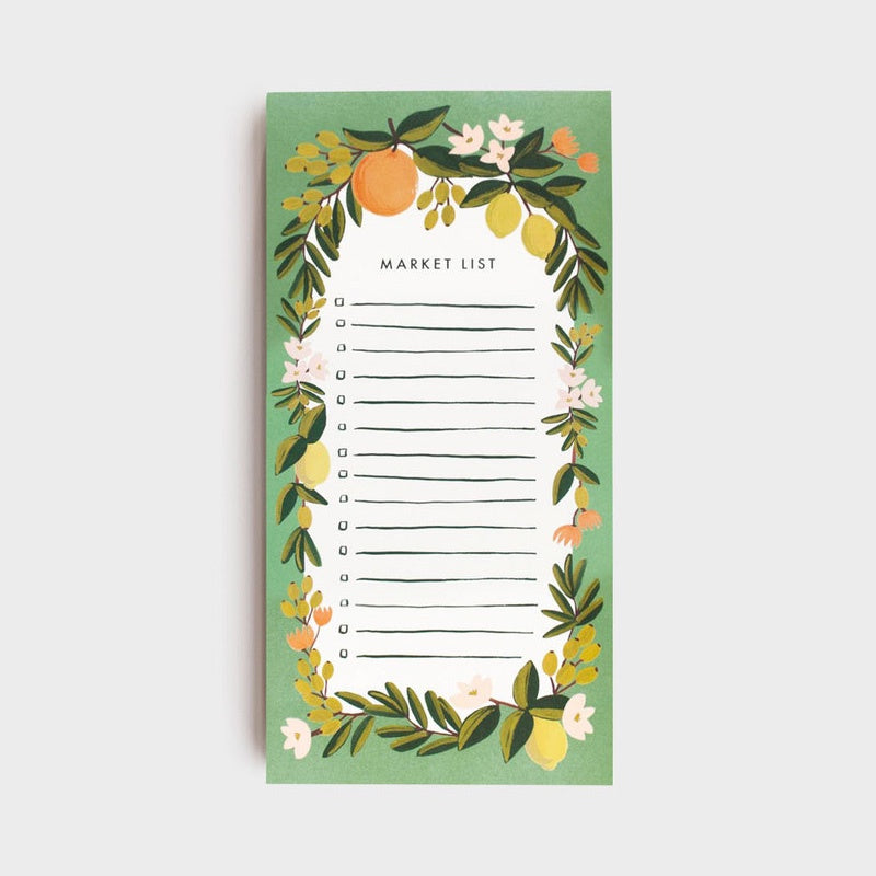 Shopping Pad Citrus Floral