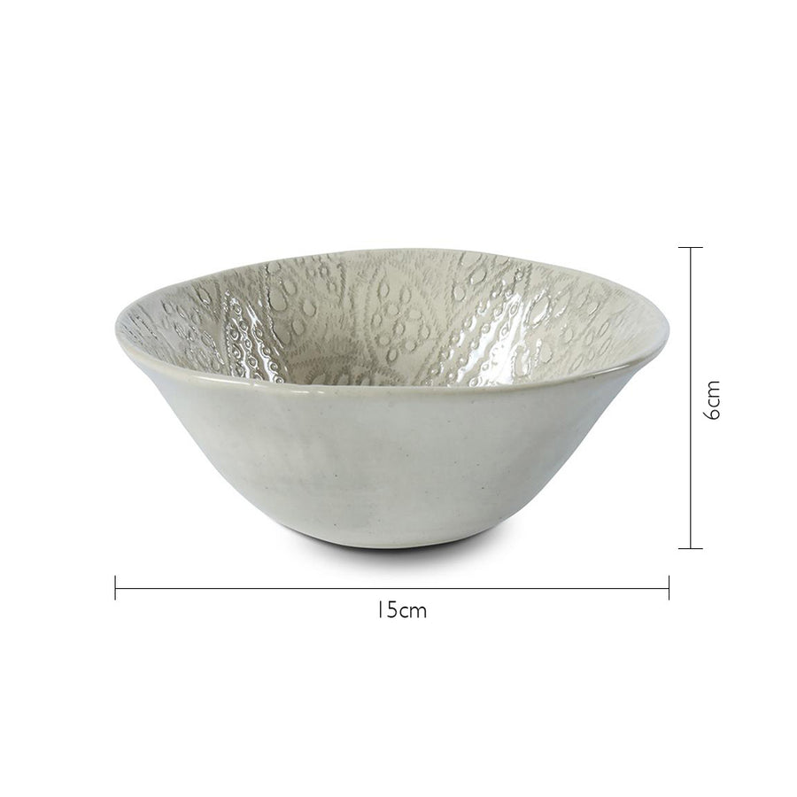 Dessert Bowl Grey Lace
