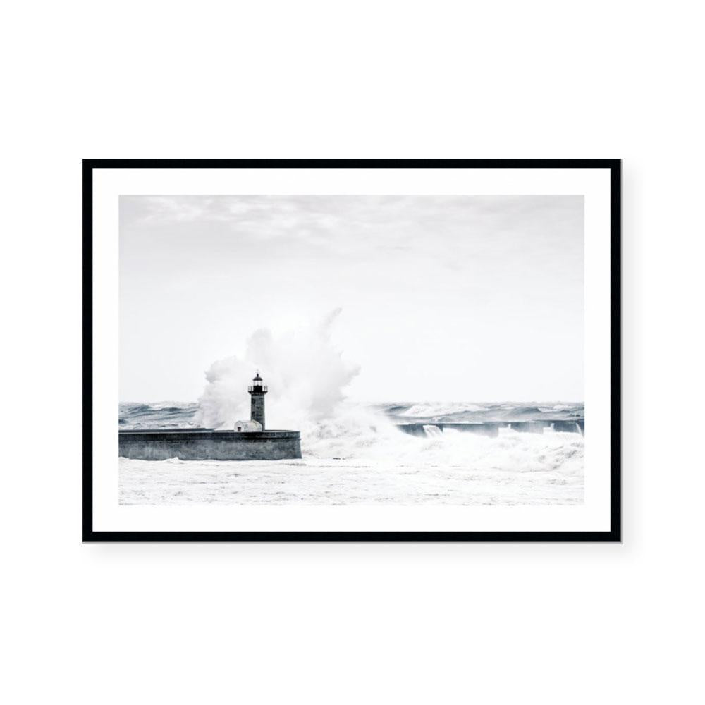 Restless Sea Framed Print