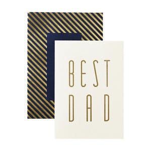Gold Best Dad Card