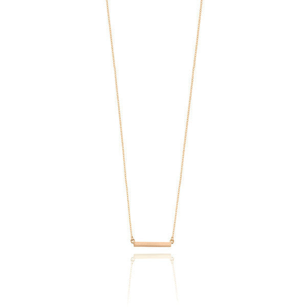 Bar Necklace - Rose