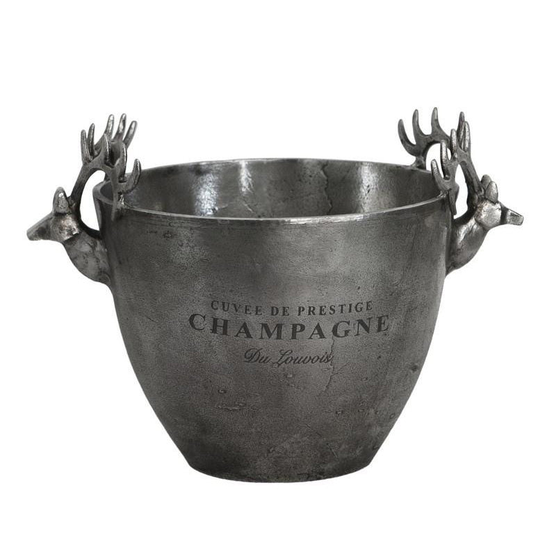 Champagne Bucket Deer Head Handle