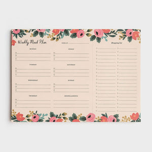 Weekly Meal Planner Notepad Rosa