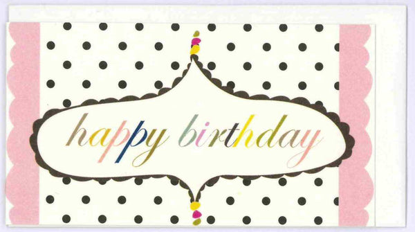 Mini Birthday Card Polkadot