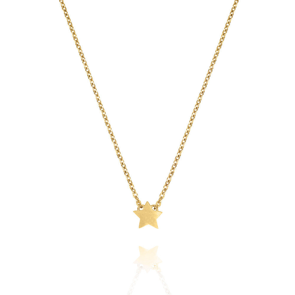 Yellow Gold Tiny Star Necklace